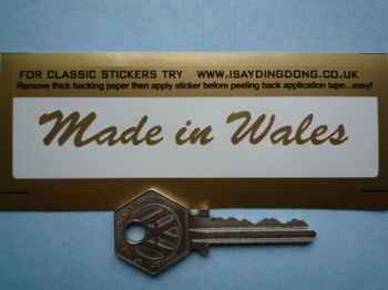 "Made in Wales Sticker. Cut Vinyl.  4""."
