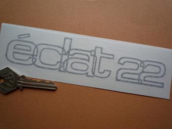 "Lotus Eclat 2.2 Outline Style Cut Vinyl Sticker. 6.5"", 9"", or 10""."