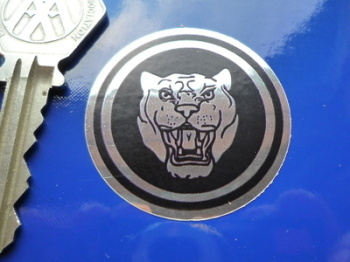 Jaguar 'Growler' Chrome Style Sticker. 40mm.