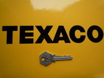 """Texaco Text Cut Vinyl Sticker. 8""""."""