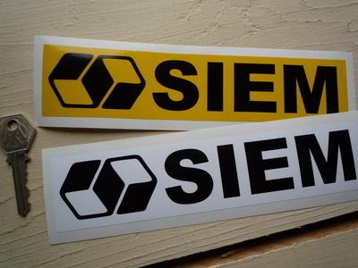 "Siem Oblong Stickers. 8"" Pair."