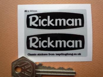 Rickman Reflective Stickers. 60mm Pair.