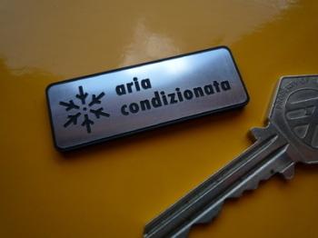 """Aria Condizionata Air Conditioning Self Adhesive Car Badge. 2""""."""