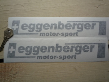 "Eggenberger Motor-Sport Cut Vinyl Stickers. 10"" Pair."
