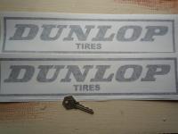 Dunlop Tires & Outline Cut Vinyl Stickers. 14