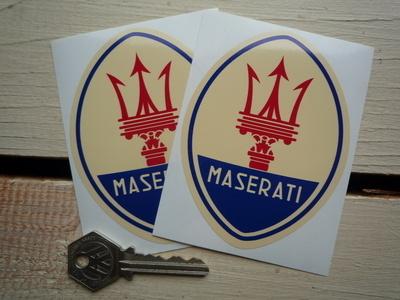 Maserati Logo Stickers. 3