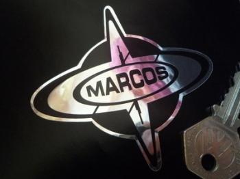 "Marcos Logo Chrome Style Sticker. 3""."