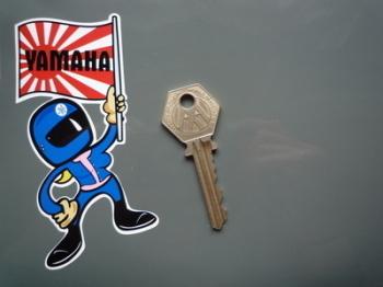 """Yamaha Flag Waving Babe Sticker. 4""""."""