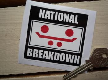 """National Breakdown Member Window Sticker. 2.75""""."""
