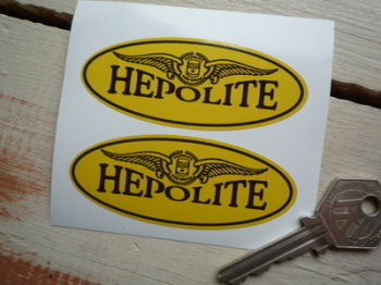 "Hepolite Winged Oval Stickers. 3"" Pair."