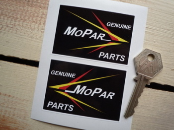 "Mopar Genuine Parts Chrysler Stickers. 2.75"" Pair."