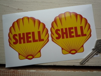 "Shell 1955 Logo Stickers. 2"", 3"", 4"", 6"" or 8"" Pairs."