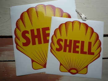 "Shell 1955 Logo Sticker. 10"" or 12""."