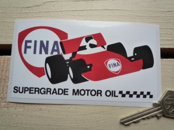 "Fina Supergrade Motor Oil Sticker. 5""."