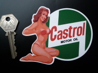 Castrol Motor Oil Pin Up Girl Sticker. 4.5
