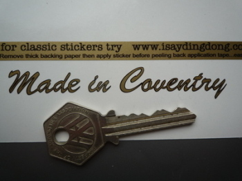 "Made in Coventry Sticker. Cut Vinyl with Black Outline.  4""."