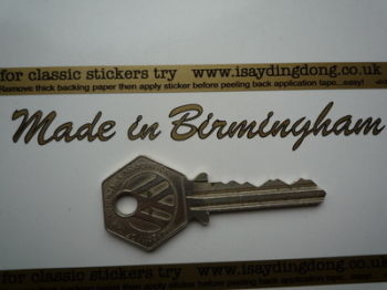 "Made in Birmingham Sticker. Cut Vinyl with Black Outline.  4""."
