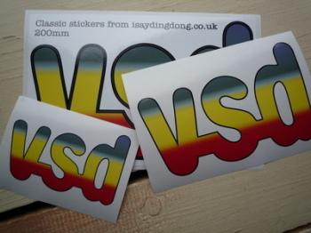 """VSD Magazine Logo Sticker. 4"""", 6"""", 8"""" or 12""""."""