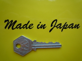 "Made in Japan Sticker. Cut Vinyl.  4""."