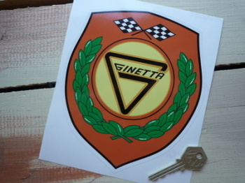 "Ginetta Shield Sticker. 5"" or 7""."
