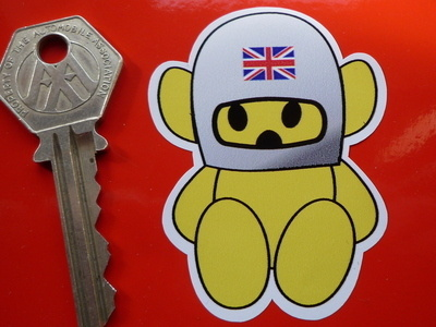 Hesketh Union Jack Helmet Teddy Sticker. 2.5