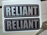 Reliant Silver on Black Oblong Stickers. 4