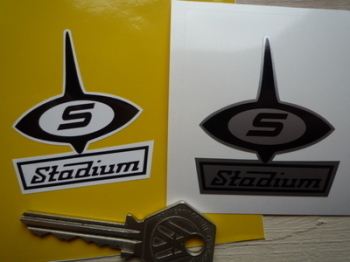 "Stadium 60's Style Logo Sticker. 2""."