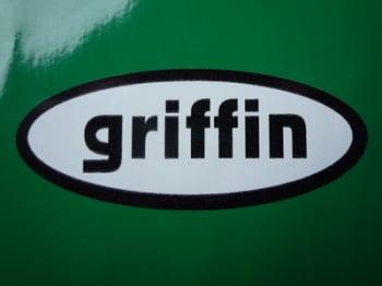 """Griffin Helmets Black & White Oval Sticker. 3""""."""