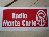 "Radio Monte Carlo RMC Oblong Sticker 5"""