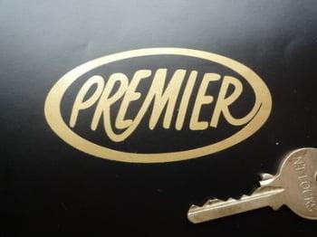 """Premier Helmets Cut Vinyl Oval Sticker, various colours. 3""""."""