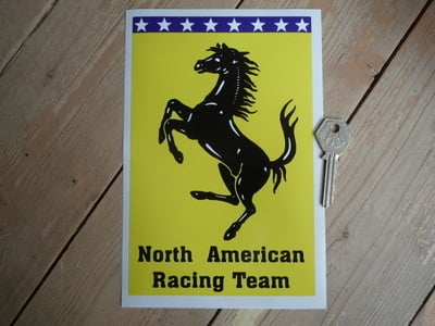 "North American Racing Team Sticker. 8""."
