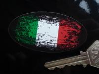 "Italian Fade To Black Oval Sticker. 4"", 6"" or 8""."