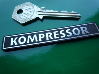 "Kompressor Laser Cut Self Adhesive Car Badge. 3""."
