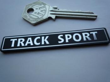 """Track Sport Laser Cut Self Adhesive Car Badge. 3""""."""