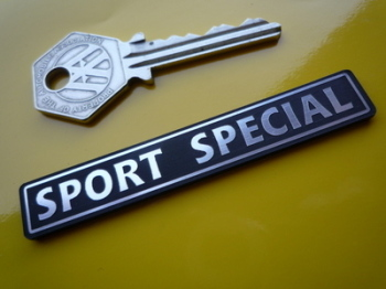 "Sport Special Laser Cut Self Adhesive Car Badge. 3""."