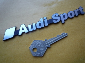 Audi Sport Laser Cut Self Adhesive Car Badge. 5.75""