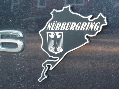 "Nurburgring Laser Cut Self Adhesive Badge. 4""."