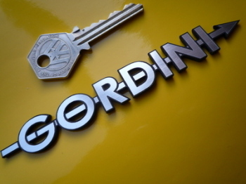 "Renault Gordini Arrow Text Style Self Adhesive Car Badge. 5""."