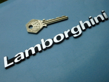 "Lamborghini Laser Cut Text Self Adhesive Car Badge - 3"" or 6.25"""