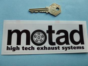 "Motad High Tech Exhaust Systems Sticker. 6"" or 10""."