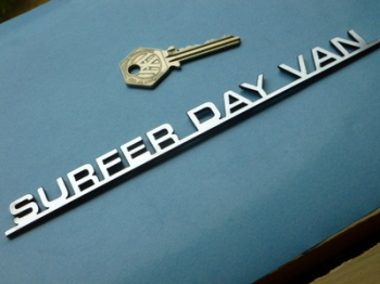 "Surfer Day Van Laser Cut Self Adhesive Car Camper Badge. 8""."