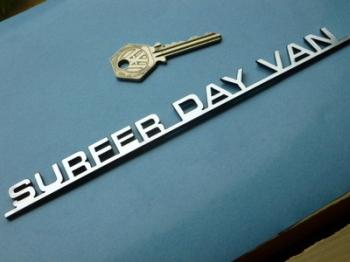 """Surfer Day Van Laser Cut Self Adhesive Car Camper Badge. 8""""."""