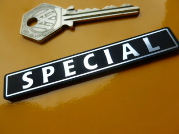 "Special Oblong Style Laser Cut Self Adhesive Car Badge. 3""."