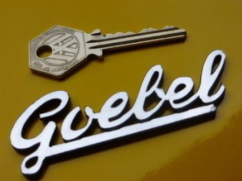 "Goebel Script Style Laser Cut Self Adhesive Moped Badge. 3""."