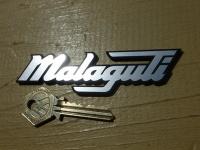 "Malaguti Style Laser Cut Self Adhesive Bike or Scooter Badge. 4""."