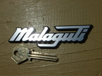"Malaguti Style Laser Cut Self Adhesive Bike or Scooter Badge. 4""."
