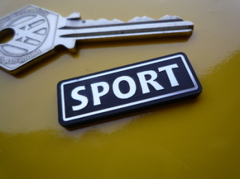 "Sport Laser Cut Self Adhesive Car Badge. 1.25"" or 2""."