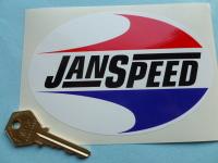 Janspeed Exhausts Oval Sticker. 5.5