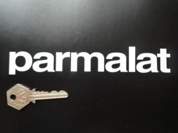 "Parmalat Cut Text Stickers. 6.5"" Pair."