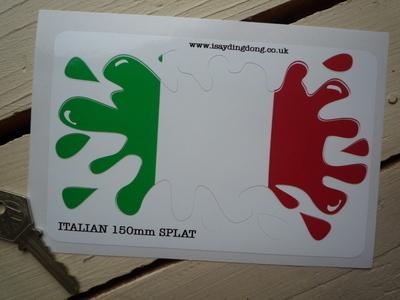 "Italian Flag Splat Style Sticker. 6""."